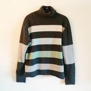 Banana Republic | Wool Striped Turtleneck Sweater